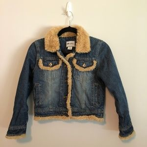 Amy Byer Faux fur denim Jacket
